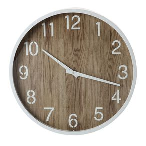 Living & Co Scandi Clock Natural 40cm