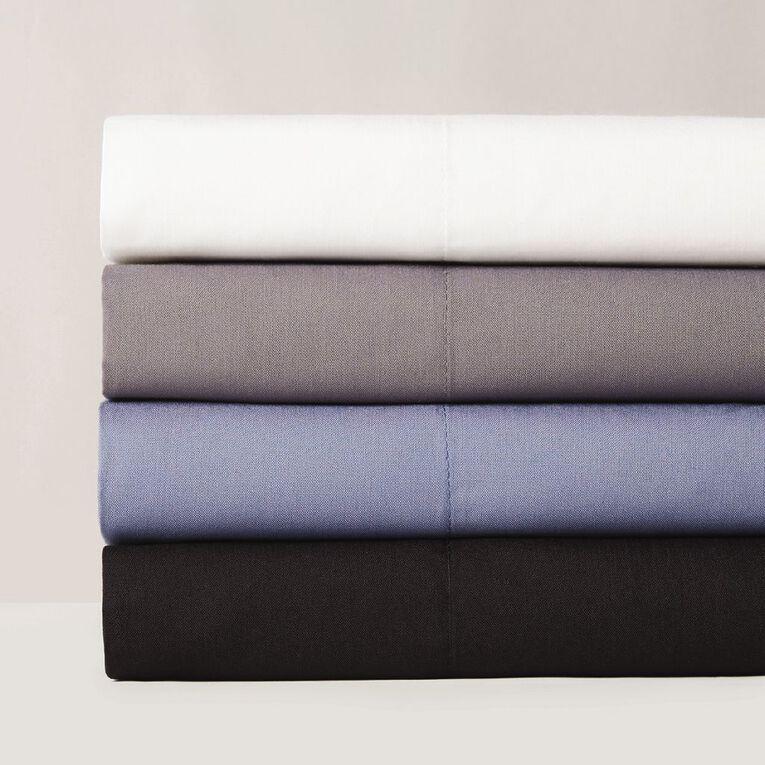 Living & Co Sheet Set Cotton Rich 270 Thread Count White Queen, White, hi-res