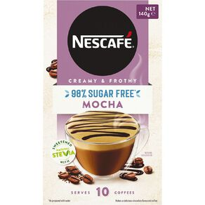 Nescafe 98% Sugar Free Mocha 10 Pack