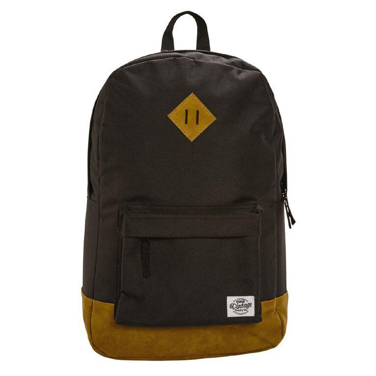 H&H Vintage Backpack, Black, hi-res