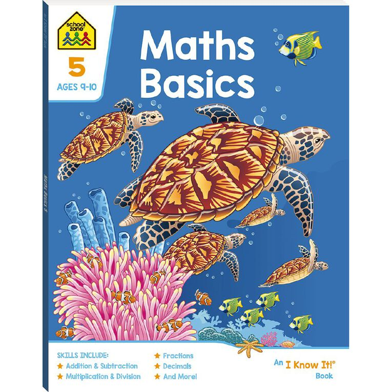 Maths Basics 5 I Know It Book (9-11yrs) by School Zone, , hi-res