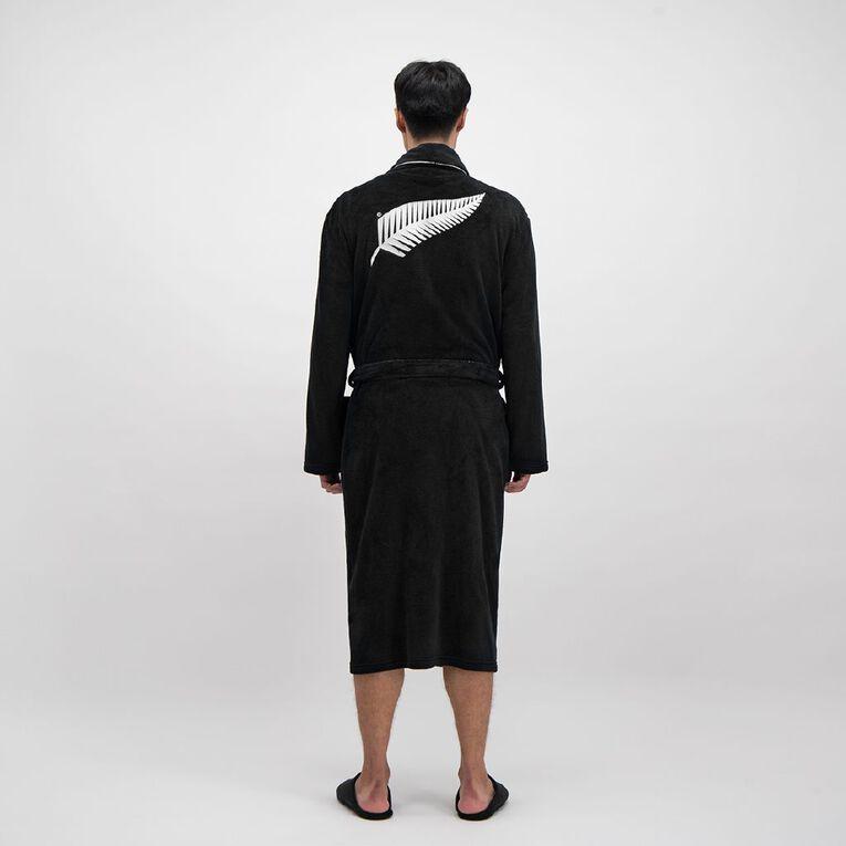 All Blacks Men's Robe, Black, hi-res