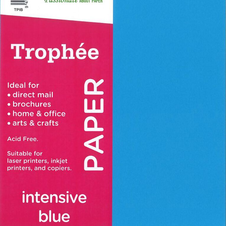 Trophee Paper 80gsm 30 Pack Intensive Blue A4, , hi-res