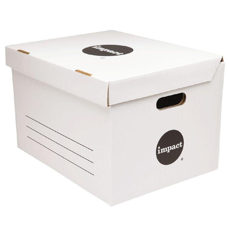 Impact Jumbo Archive Box White, , hi-res