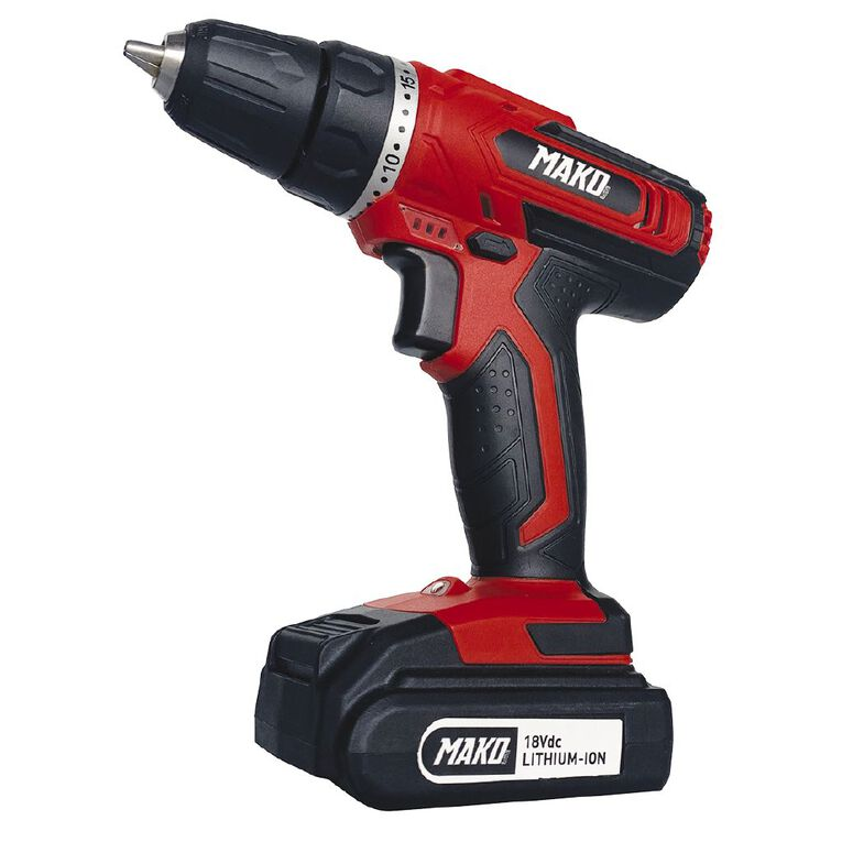 Mako 18V Cordless Drill With 1.5AH Battery and Charger, , hi-res image number null