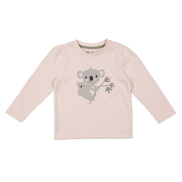 Young Original Toddler Long Sleeve 2 Pack Tees, Pink Light KOALA, hi-res