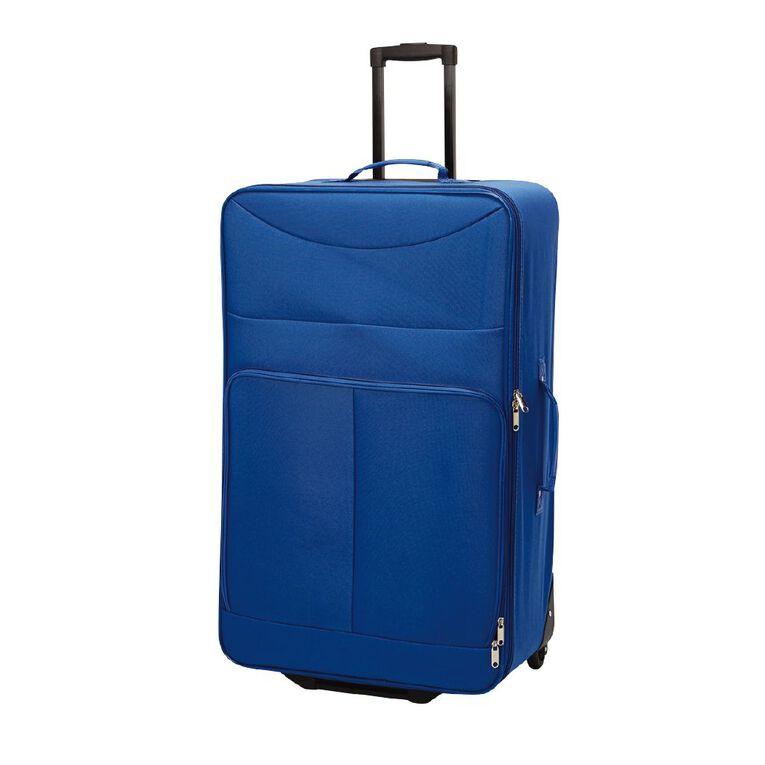 Living & Co Soft 2 Wheel Suitcase, Blue, hi-res