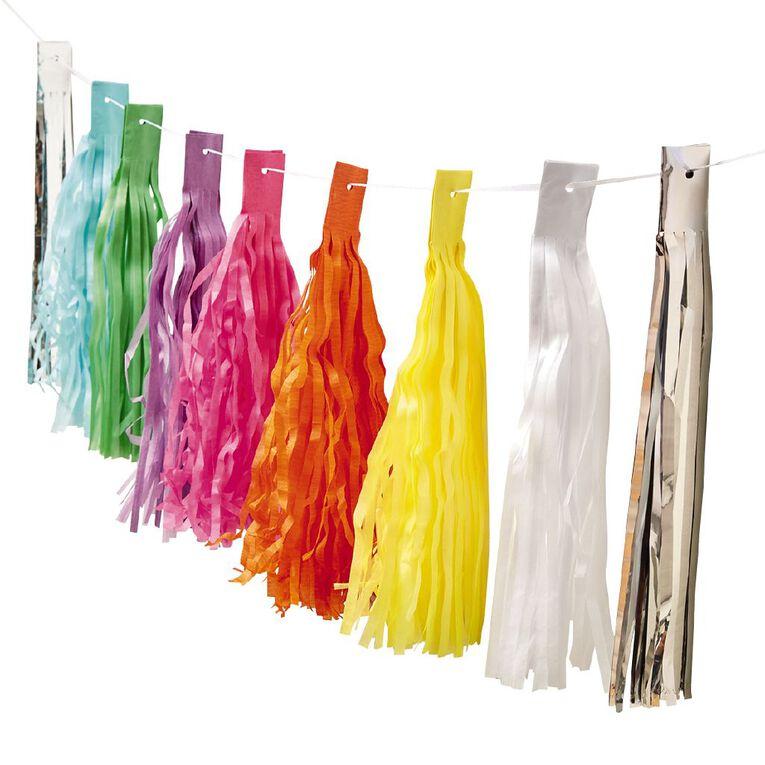 Party Inc Rainbow Tassel Garland 3m, , hi-res