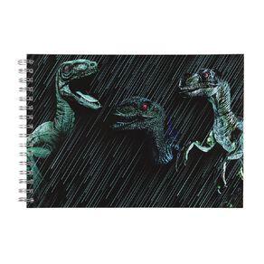 Kookie Rawr Sketchpad Spiral Dino Green Dark A4