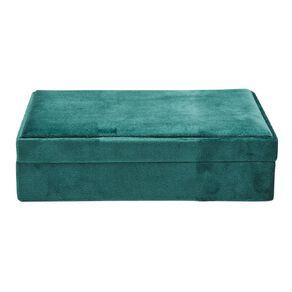 Living & Co Velvet Jewellery Box 21x15x4.5cm Green
