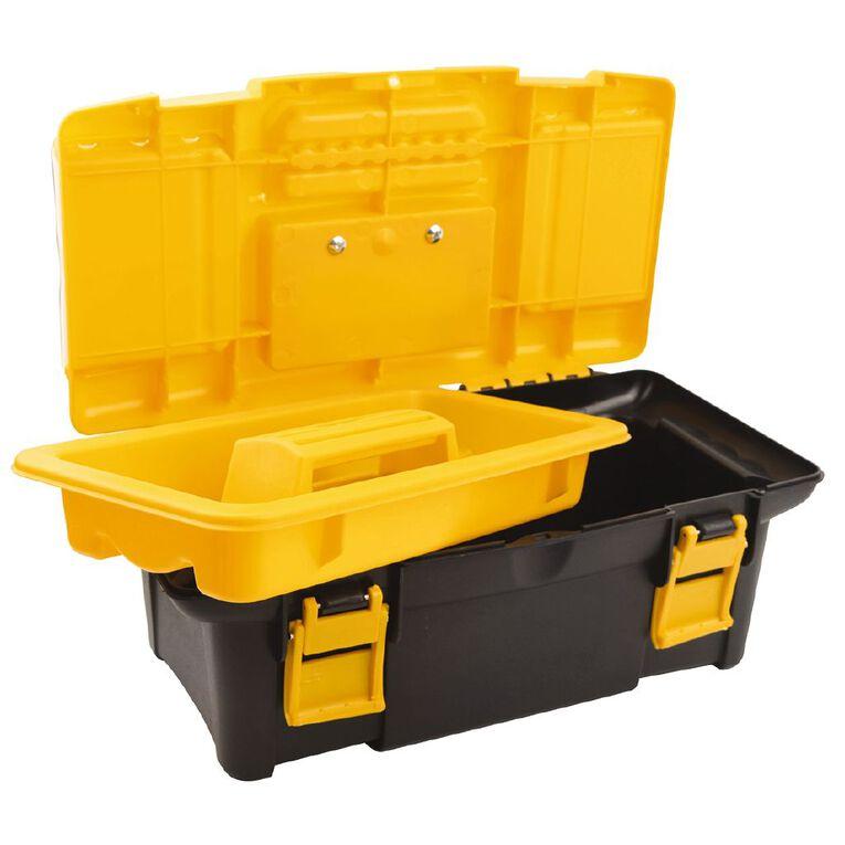 Tolsen Plastic Toolbox 34 x 18 x 13cm, , hi-res