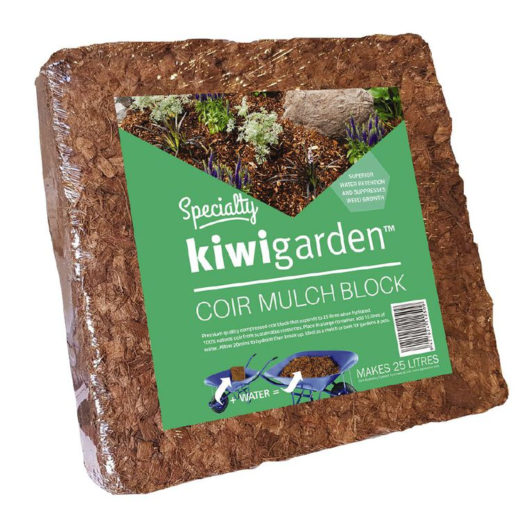 Kiwi Garden Coir Mulch Block 25L, , hi-res