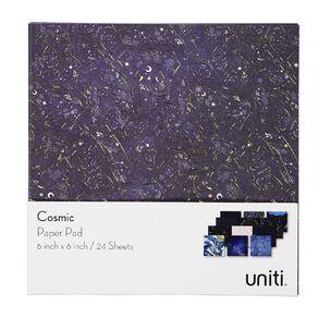 Uniti Cosmic Paper Pad 24 Sheets 6in x 6in