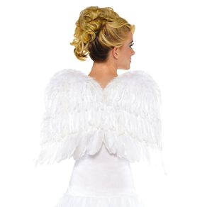 Amscan Wings Feather 167cm x  x 55cm White Adult
