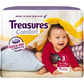 Treasures Standard Crawler Nappies 20 Pack
