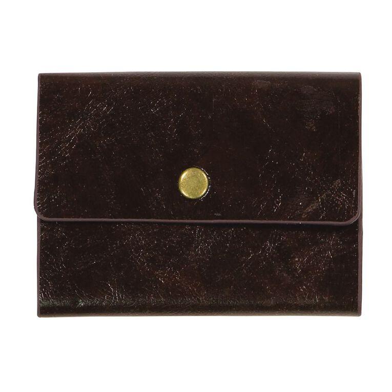 Paper Co Vintage Business Card Holder 24 Pockets Brown, , hi-res