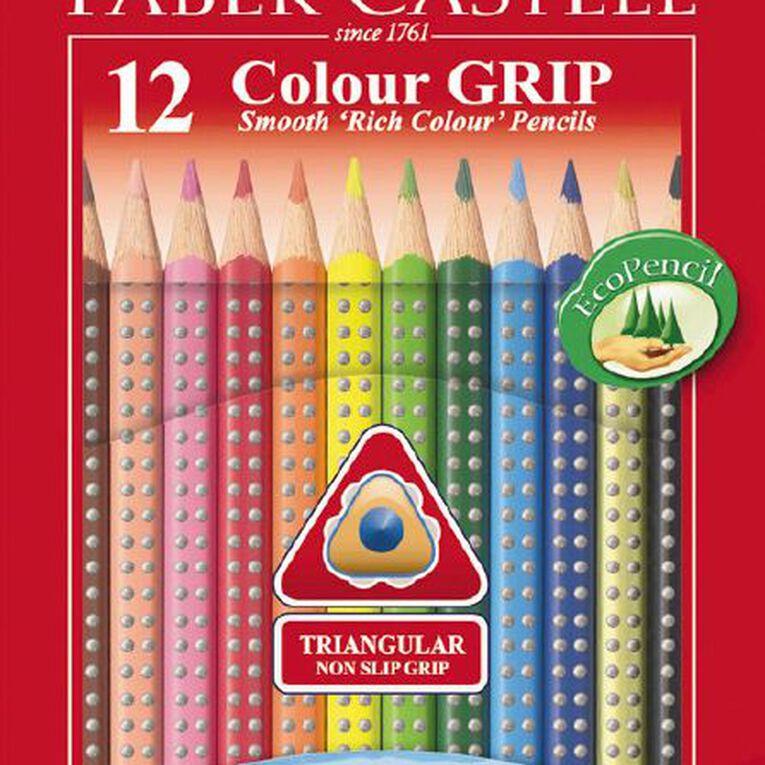 Faber-Castell Coloured Grip Pencils 12 Pack, , hi-res