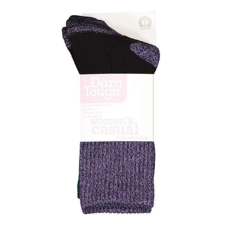 Darn Tough Women's Rib Crew Socks 2 Pack, Black/Green, hi-res