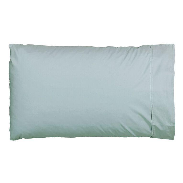 Living & Co Pillowcase Standard Cotton 400 Thread Count Blue 48cm x 73cm, Blue, hi-res