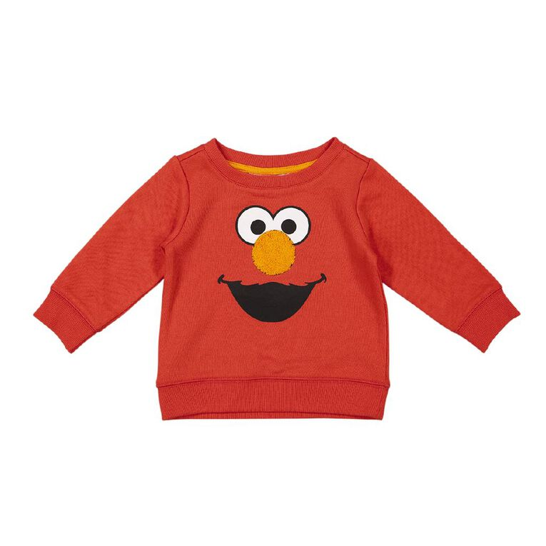 Sesame Elmo Crew Sweatshirt, Red Light, hi-res