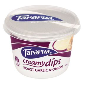Tararua Roasted Garlic and Onion Dip 250g