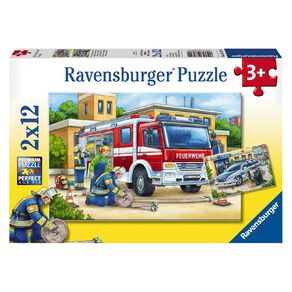 Ravensburger Police and Firefighters Puzzle 2 x 12 Piece