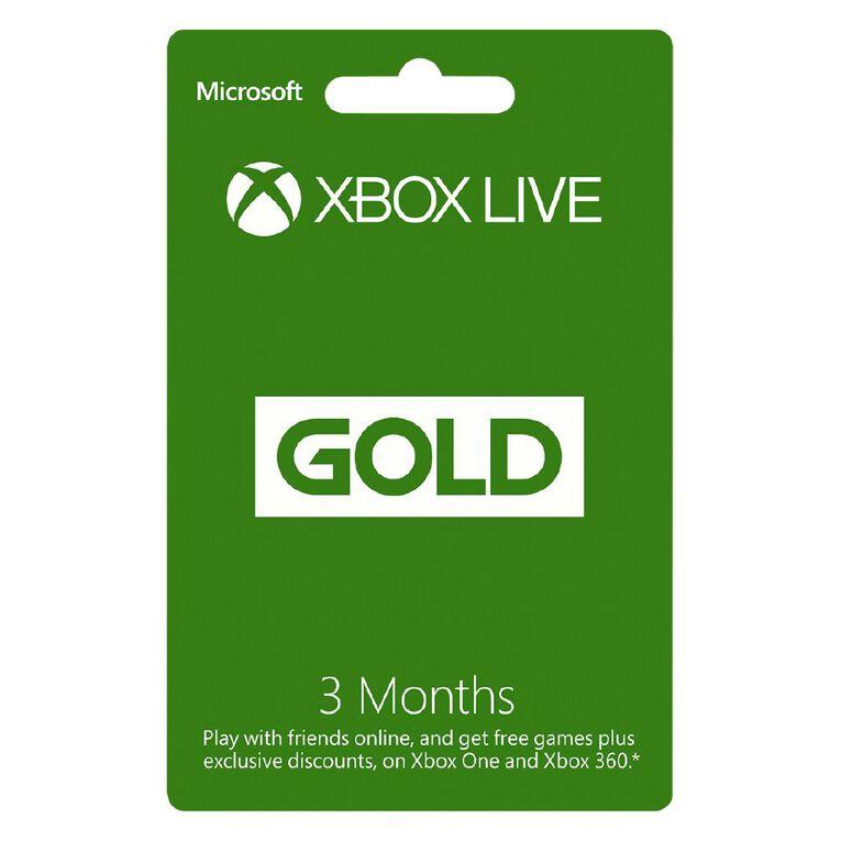 Xbox Live Gold 3M NZ POSA, , hi-res