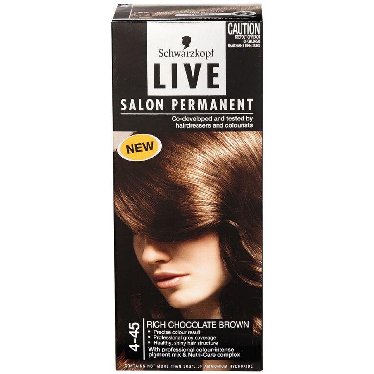 Schwarzkopf Live Salon Permanent 4-45 Rich Chocolate, , hi-res