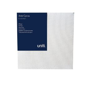 Uniti Blank Canvas 280gsm 6in x 6in 4 Pack