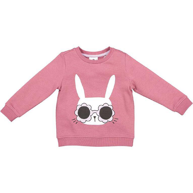 Young Original Toddler Printed Crew Sweatshirt, Pink Mid, hi-res