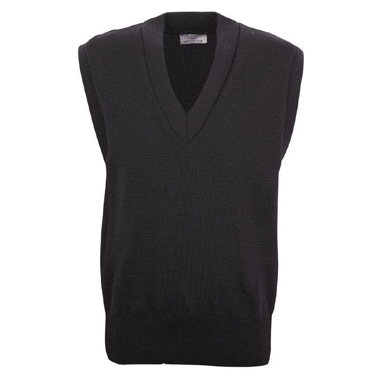 Schooltex Wool Vest, Black, hi-res