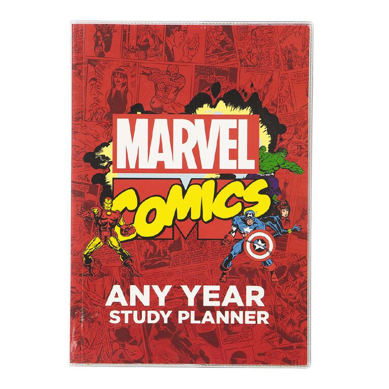 Marvel Kids Avengers Any Year Study Planner Red, , hi-res