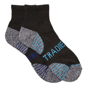 Tradie Boys' Quarter Crew Sport Socks 2 Pack