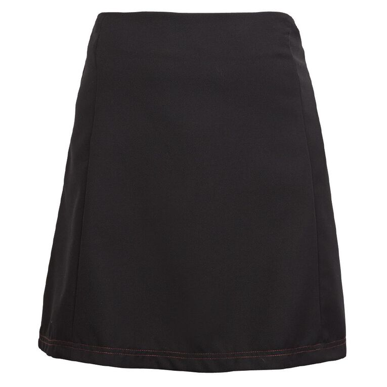 Schooltex Manurewa Intermediate Skirt, Black, hi-res