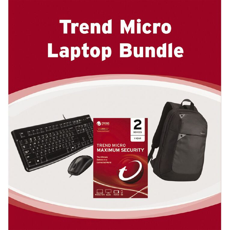 Trend Micro Bundle with Logitech MK120 and Targus 15.6 Laptop Backpack, , hi-res