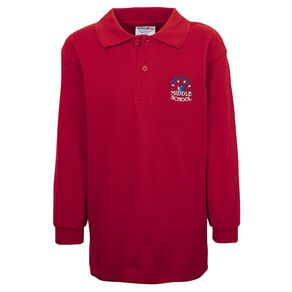 Schooltex Invercargill Middle School Long Sleeve Polo with Embroidery