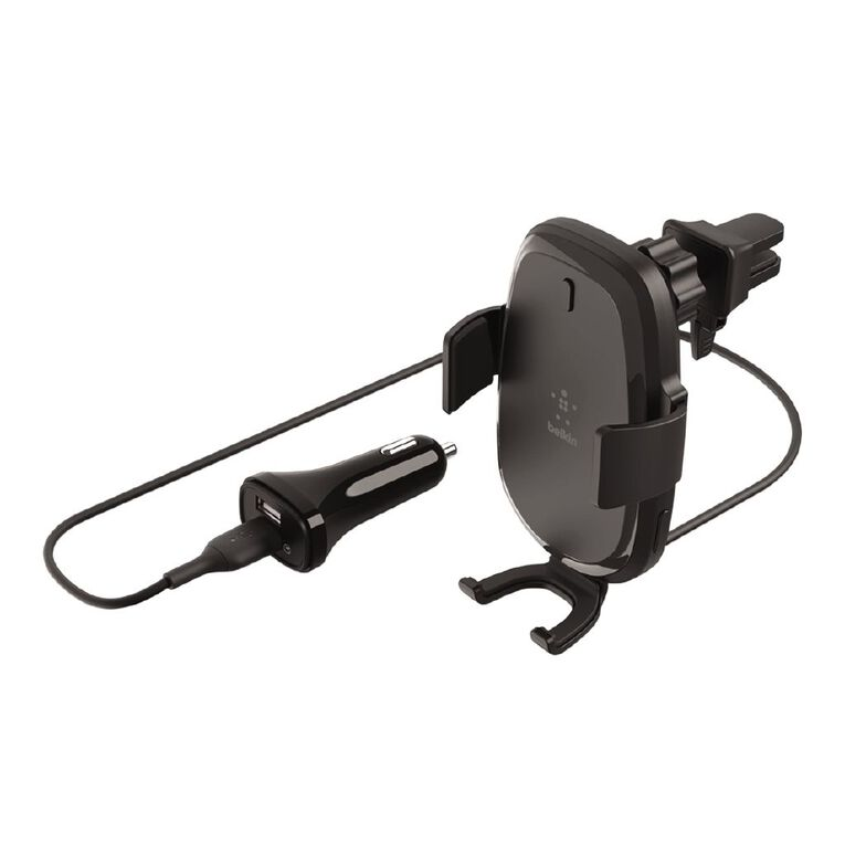 Belkin BoostCharge 10W Wireless Vent Mount Car Charger Black, , hi-res