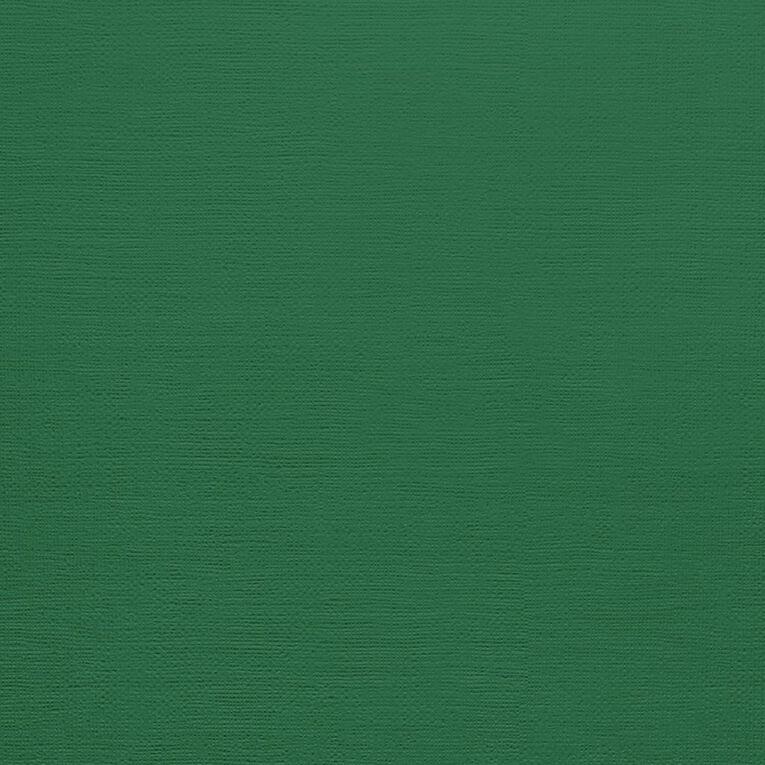 American Crafts Cardstock Textured Evergreen 12in x 12in, , hi-res