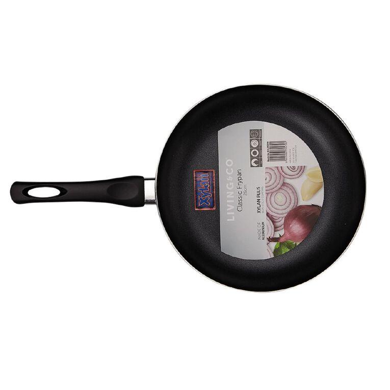 Living & Co Classic Frypan Black 26cm, , hi-res