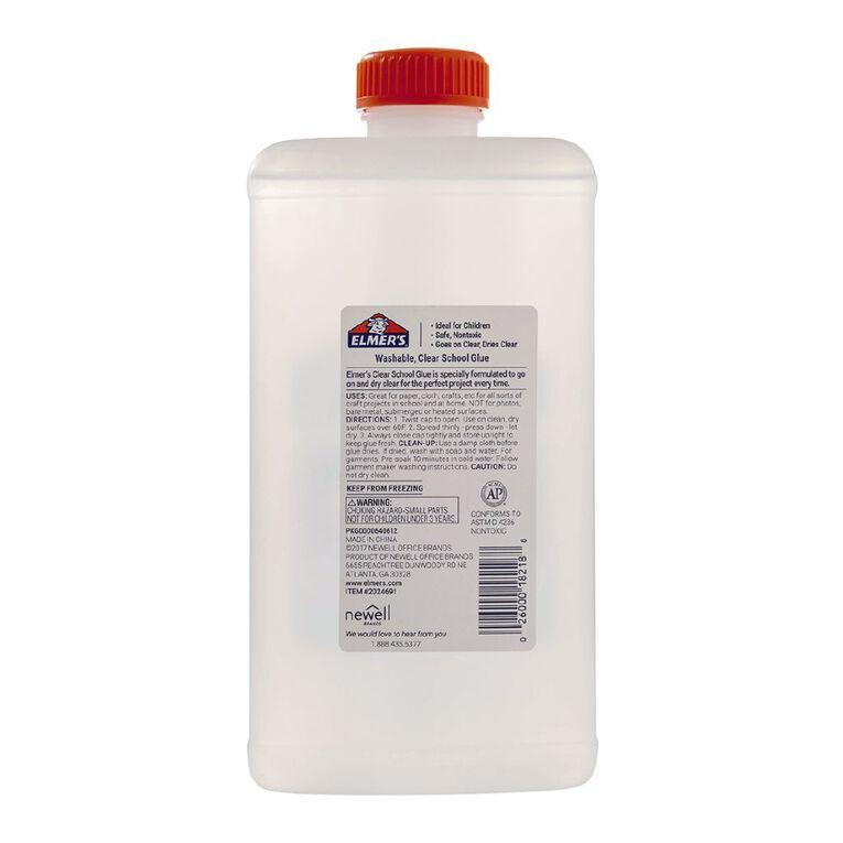 Elmer's Clear Liquid School Glue 946ml Quart Clear, , hi-res