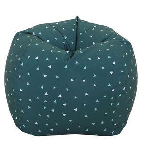 Living & Co Bean Bag Cover Blue Triangle 150L