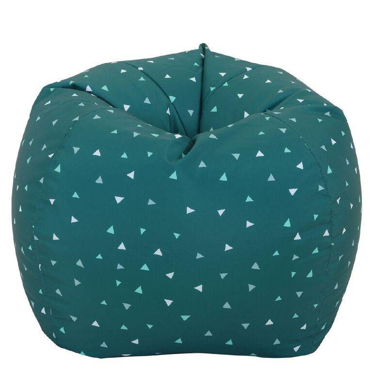 Living & Co Bean Bag Cover Blue Triangle 150L, , hi-res