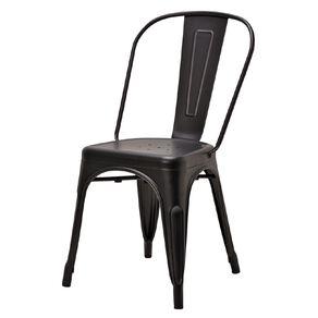 Living & Co Dining Chair Metal Matte Black