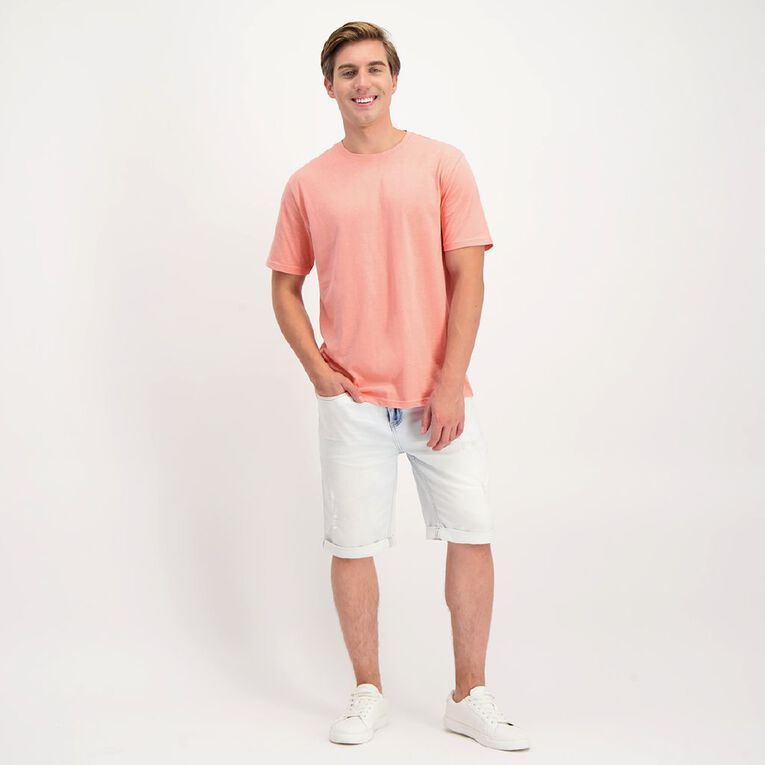 H&H Men's Crew Neck Short Sleeve Plain Tee, Pink ROSE TAN, hi-res image number null