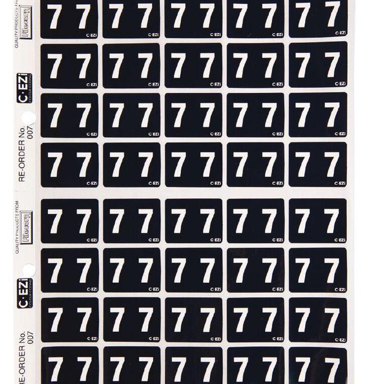 Filecorp Coloured Labels 7 Black, , hi-res