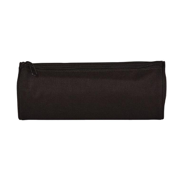 WS Pencil Case Tube Plain Black, , hi-res