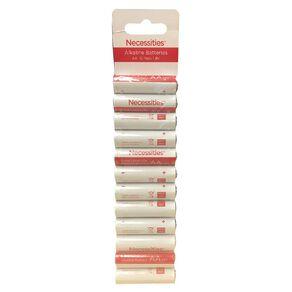Necessities Brand AA LR6 Alkaline 12 Pack