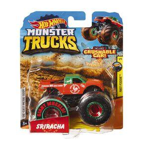 Hot Wheels Monster Trucks 1:64 Scale Diecast Truck Assorted