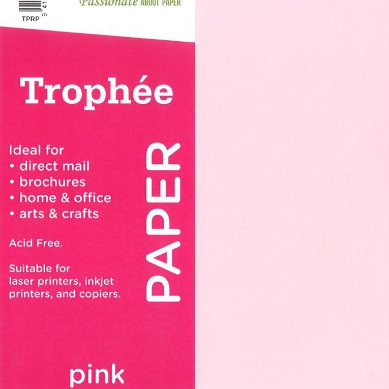 Trophee Paper 80gsm 500 Pack Pink A4, , hi-res