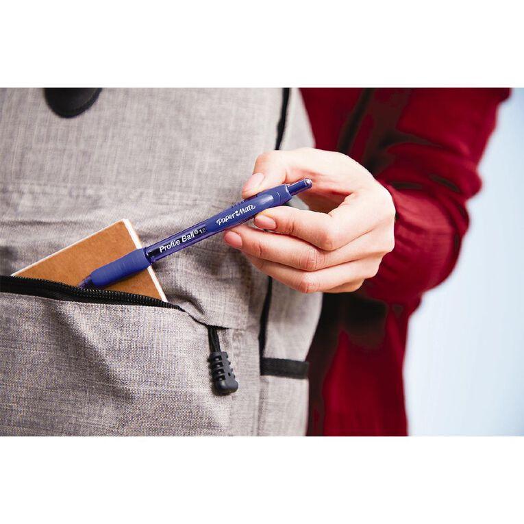Paper Mate Profile Retractable 1.0mm Ball Pen Loose Blue, , hi-res